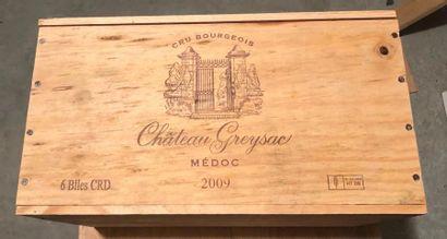 CHATEAU GREYSAC  / 2009 / 6 BOUTEILLES  /...