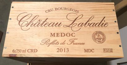 CHATEAU LABADIE / 2013  / 6 BOUTEILLES /...