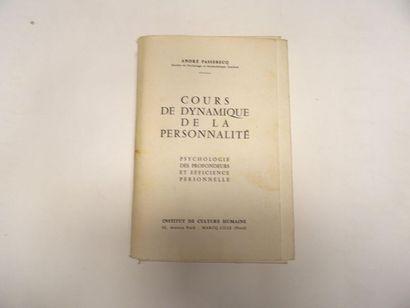«Cours de dynamique de la personnalité»,...