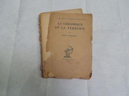 «La céramique et la verrerie», René Chavance;...