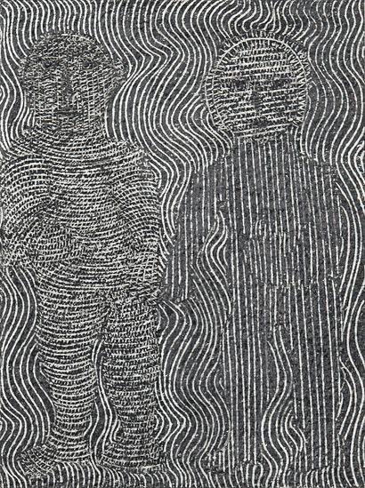 SENDREY Gérard Sans titre / Graphite sur papier / 16 x 12 cm