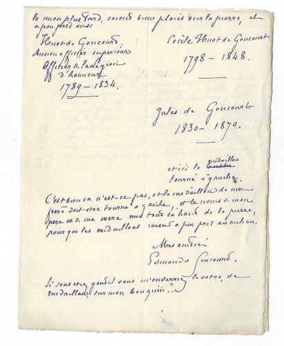GONCOURT, Edmond de (1822-1896), écrivain français.