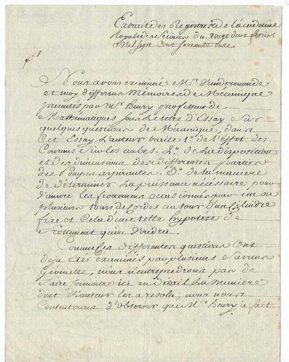 CONDORCET, Nicolas Marquis de (1743-1794), philosophe, mathématicien économiste et homme politique français.