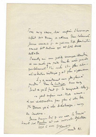 FLAUBERT, Gustave (1821-1882), écrivain français.