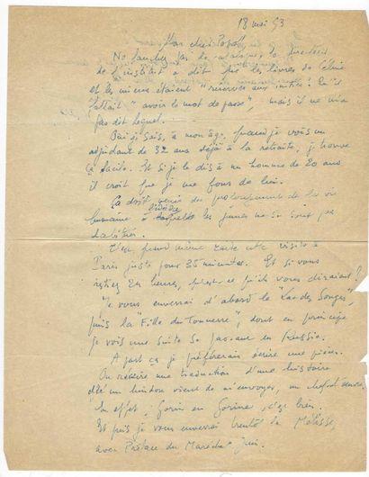 [CÉLINE, Louis-Ferdinand]. PARAZ, Albert (1899-1957), écrivain et journaliste français.