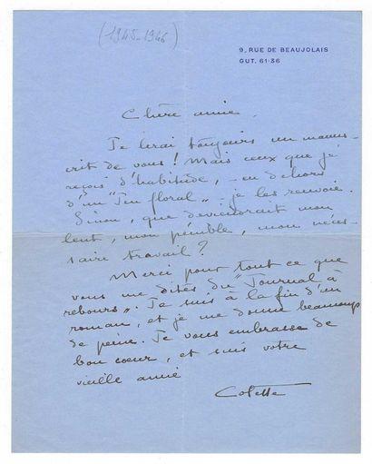 COLETTE, Sidonie Gabrielle dit (1873-1954), femme de lettres française.