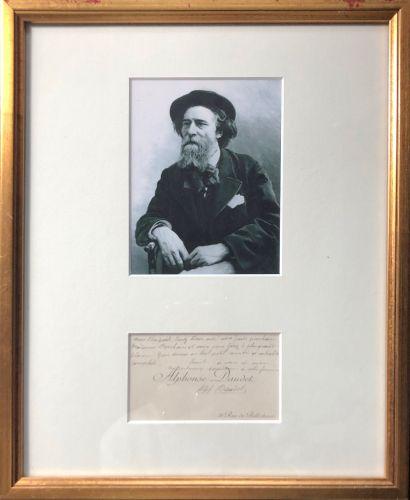 DAUDET, Alphonse (1840-1897), écrivain et auteur dramatique français