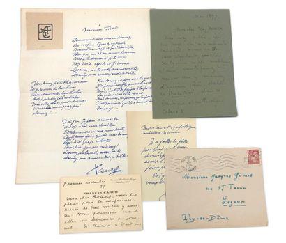[CABARET DU CHAT NOIR]. SAINT-GEORGES DE BOUHÉLIER (1876-1947), poète, romancier et auteur dramatique français.