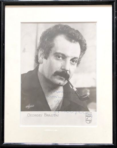 BRASSENS, Georges (1921-1981), poète, auteur-compositeur et interprète français.