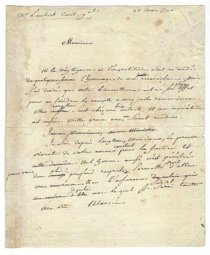 BEAUMARCHAIS, Pierre-Augustin Caron de (1732-1799), écrivain, homme d'affaires français.