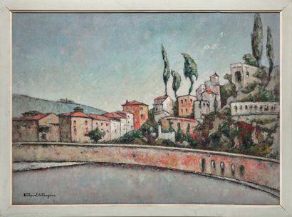 Tristan KLINGSOR (1874-1966) # Paysage, circa 1930 Huile sur toile, signée en bas...