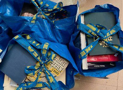 Lots de livres dans trois sac dont arts,...