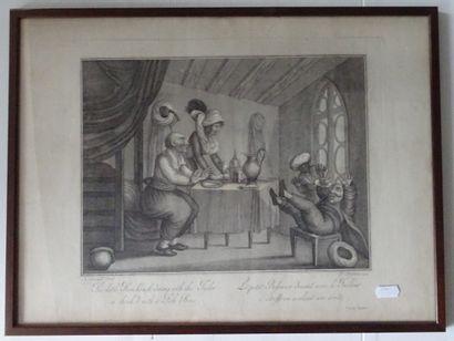 F. AMBROSI d'après A. SUNTACH  Deux gravures...