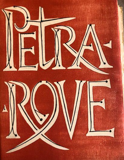 Petrarque Madrigaux Gravure par Yves Tremois...
