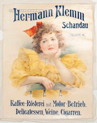 ANONYME. Hermann Klemm Schandau. Kaffee-Rösterei...