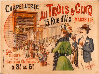 D'AUVERGNE. Chapellerie aux Trois & Cinq...