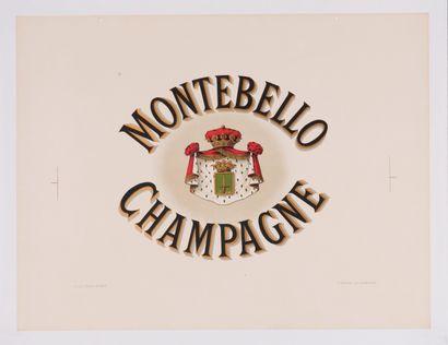 ANONYME. Champagne Montebello. Circa 1920....