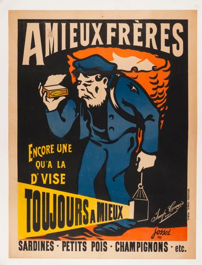 JOSSOT Henri Gustave. Sardines Amieux Frères....