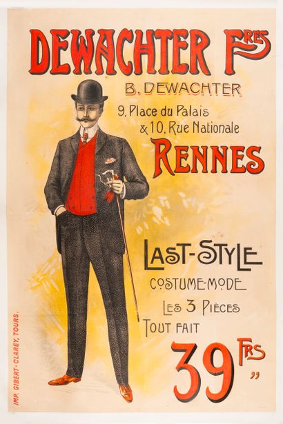 ANONYME. Dewachter Frères Rennes. Last Style....