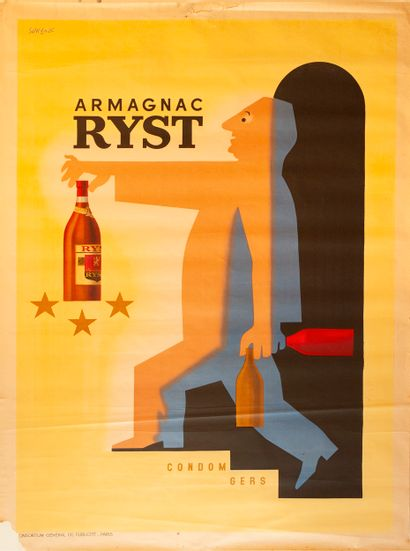 SAVIGNAC Raymond. Armagnac Ryst. Condom gers....