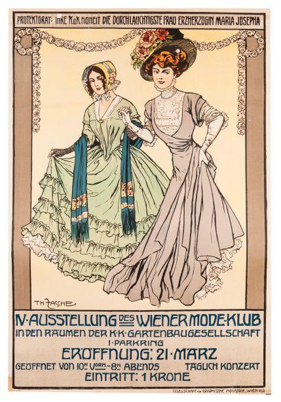ZASCHE Th. IV Ausstellung des Wiener Mode...