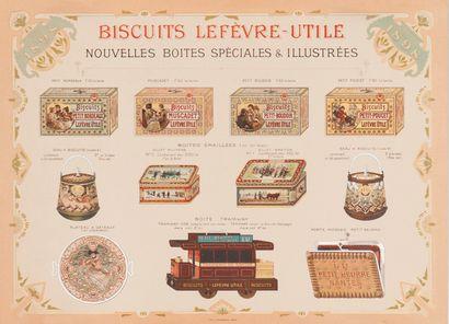 BISCUITS LEFEVRE-UTILE. Nouvelles boîtes...