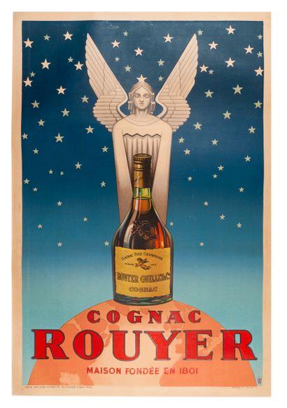 ANONYME. Cognac Rouyer. 1945. Affiche lithographique....