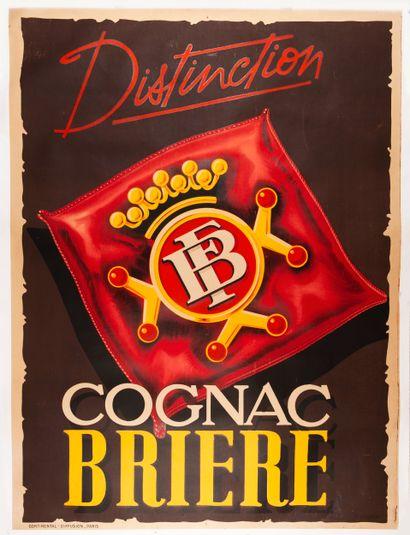 CHAIGNON P. Cognac Brière. Affiche lithographique....