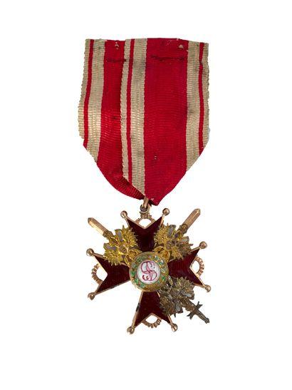 RUSSIE Ordre de Saint Stanislas, Croix de...