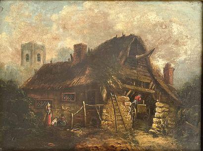 Ecole HOLLANDAISE, du XIXème siècle dans le goût de Adriaen van OSTADE