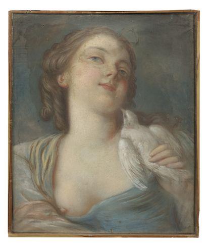 École française, XVIIIème siècle Portrait de femme Pastel 41 x 32,5 cm