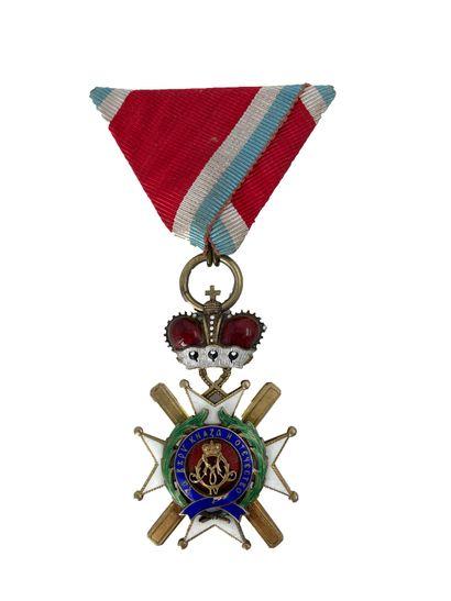SERBIE Ordre de Takowo, Croix de 4eme classe...