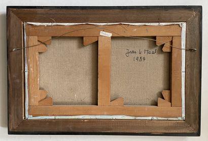 Jean LE MOAL (1909-2007) Composition, 1984 Huile sur toile signée et datée en bas...