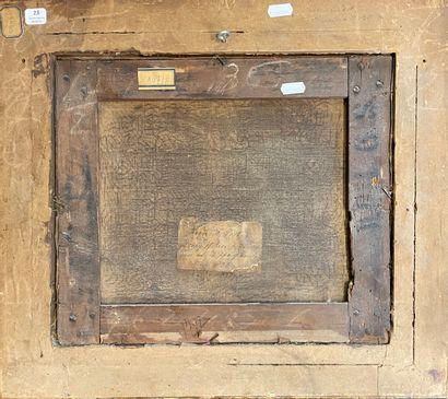 Ecole FLAMANDE, du XVIIIème siècle Les pêcheurs Sur sa toile d'origine 39 x 35 c...