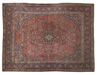 Tapis en laine à motifs floraux 305 x 415...