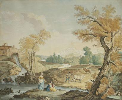 ECOLE HOLLANDAISE, vers 1800