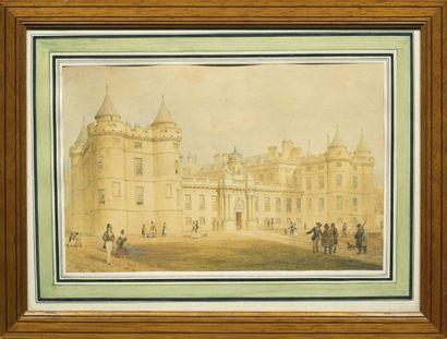 Thomas Hosmer SHEPHERD (1793-1864) Château de la couronne royale, 1831 Aquarelle...