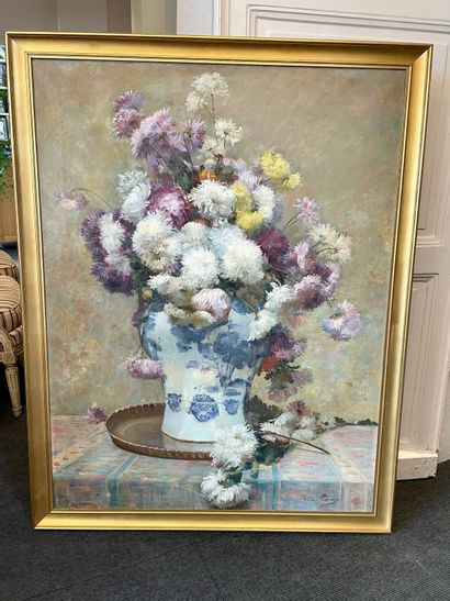 Félix CARME (1863-1938) Vase in bloom Oil on canvas signed lower right 117 x 90 ...