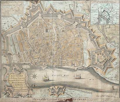 Anvers Plan en couleurs 39 x 49 cm (à vu...