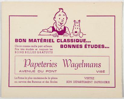 Tintin - Publicité: Rare plaquette publicitaire...