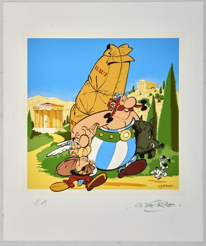 Astérix - Sérigraphie «Visitez Olympie avec...