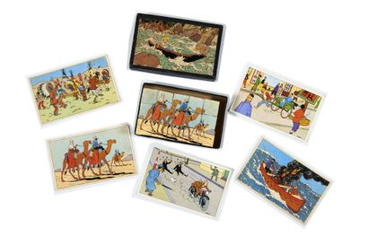 Tintin - Jeu de cubes: Ancien jeu en bois...