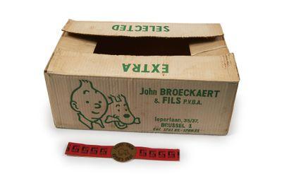 Caisse à bananes + bandelette Tintin: Exceptionnelle...