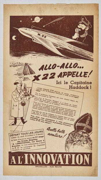 Tintin - Allo-Allo X22 appelle!: Rare affiche...