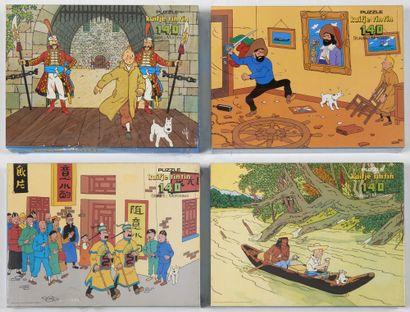 Tintin - Ensemble de 4 puzzles: Le lotus...