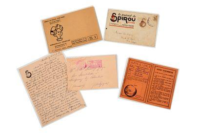 Spirou - Ensemble de 4 documents anciens:...