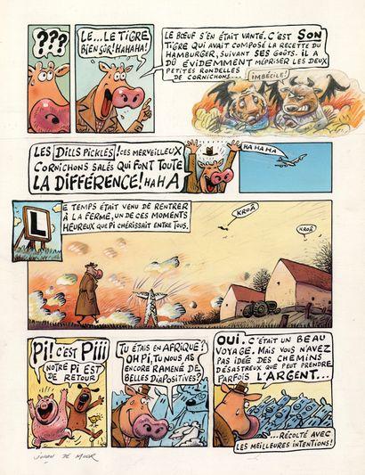 Johan DE MOOR (né en 1953) La vache - Le mauvais goût de la vengeance Technique mixte...