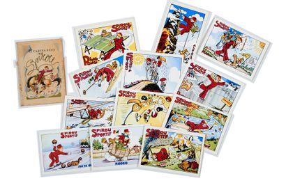 Spirou - Cartes postales: Pochette contenant...