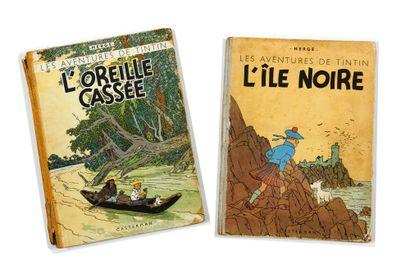 Tintin - Ensemble de 2 albums: L'oreille...