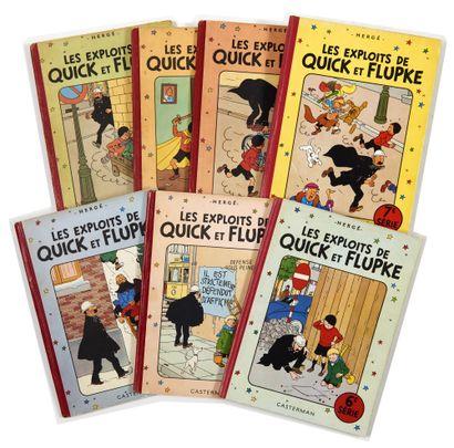 Quick et Flupke - Ensemble de 7 albums:...